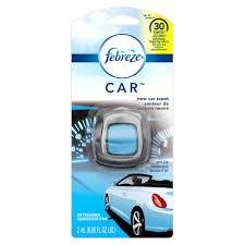 air freshener new car smell febreze 0 06 oz new car scent car vent clip air freshener