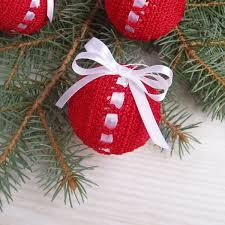 6 crochet balls ооак decoration shatterproof