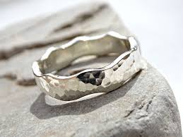 wedding ring alternative buy a handmade wave ring silver themed wedding band