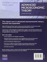 advanced microeconomic theory amazon co uk geoffrey a jehle