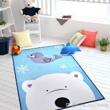 sale kids carpet cartoon blue polar bear rug for children