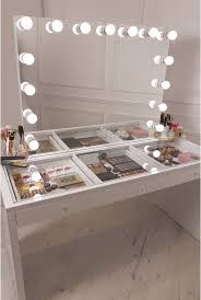 Beautiful Makeup Vanities Desk Mirrored Vanity Beautiful Makeup Desk With Lights Now That