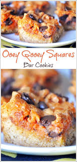 ooey gooey squares bar cookies this cooks on a diet