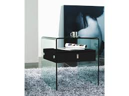 high gloss black lacquer nightstand end table by casabianca home