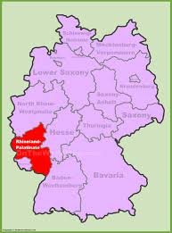 Germany Map Europe by Rhineland Palatinate Location On The Germany Map