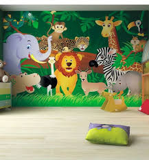 Kids Bedroom Ideas Zoo Wall Mural Noahs Ark Pinterest Wall - Childrens bedroom wall painting ideas