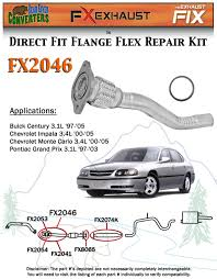 fx2046 semi direct fit exhaust flange repair flex pipe replacement