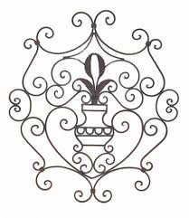 Wrought Iron Decorations Home Wrought Iron Scroll Wall Decor Shenra Com