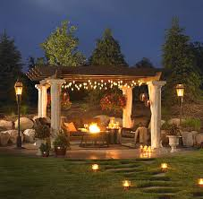 Garden Patio Lights Pergola Design Ideas Outdoor Pergola Lights Stunning Design White