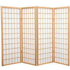 4 panel room divider 48 5 in mahogany room partition divider dct 656 the home depot