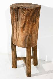 tree trunk side table contribute immense accent homesfeed