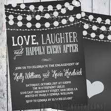 Betrothal Invitation Cards Chalkboard Engagement Invitation Engagement Party Invitation