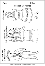 mexico coloring page a good example of costumes worn occasion decoration apparel