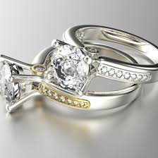 white gold engagement ring with yellow gold wedding band engagement rings wedding rings uk ireland dubai and australia