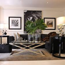 Best LoungeLiving Rooms Images On Pinterest Living Room - Black and white family room