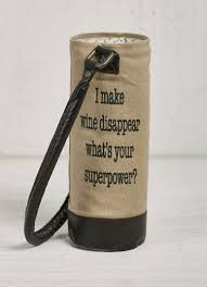 super power canvas wine bag by mona b at walking pants curiosities