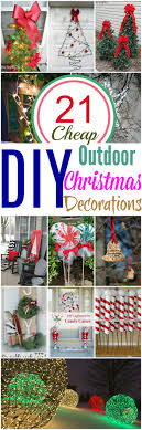 diy lighted outdoor christmas decorations 21 cheap diy outdoor christmas decorations diy home decor