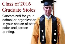 personalized graduation stoles uiversity cap gown academic regalia diplomas announcements