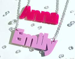 Acrylic Name Necklace Girls Name Necklace