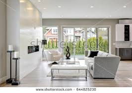 Modern Style Living Room Internal Shots Modern Living Room Fabric Stock Photo 554234287