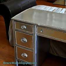 Diy Metal Desk by Renew Redo An Old Desk Gets A Stainless Steel Look Diy Show