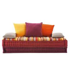 divano materasso maison du monde banquette 2 3 places en coton multicolore banquette maison du