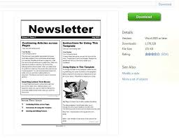 Microsoft Publisher Resume Templates Newsletter Template Word Free 28 Images Newsletter Templates