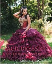 burgundy quince dresses 2016 rhinestone crystals burgundy quinceanera dresses halter lace