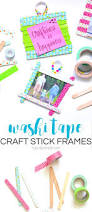 washi tape craft stick frames typically simple