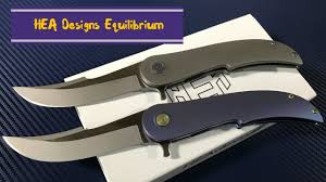 Knife Designs by Hea Designs Equilibrium Titanium Framelock Flipper Knife With
