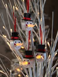 4 pack led flickering snowman tealight ornaments buy now