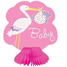 stork baby shower buy 6 quot mini honeycomb pink stork baby shower decorations 4ct