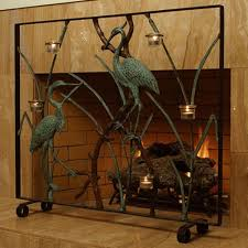 fireplace screens decorative modern decorative fireplace screen