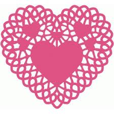 heart doily silhouette design store view design 37585 heart doily