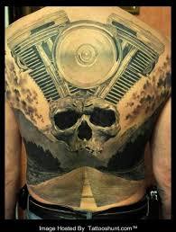 tattoo 3d mechanical upperback skull and 3d mechanical tattoo on back tattooshunt com