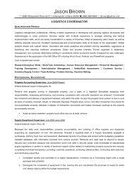 Logistics Resume Summary Resume Examples Logistics Specialist Transportation Resume