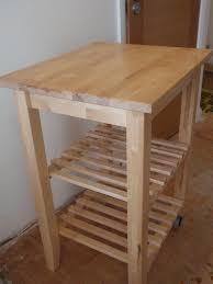 ikea u0027bekvam u0027 kitchen trolley worktop x 3 solid beech two wheels