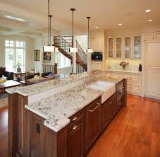 delicatus white granite kitchen contemporary with kitchen island