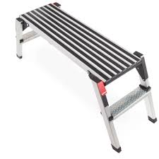 builder work hop up platform extra wide step ladder aluminum