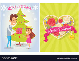 merry best wishes for you postcard