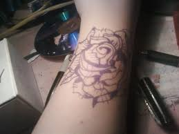 black and white rose tattoo by macy mouse on deviantart
