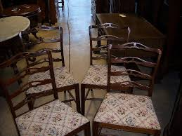 dining chairs chippendale style ribbon or ladder back set of 4