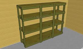 Simple Wood Storage Shelf Plans by Garage Shelving Plans Myoutdoorplans Free Woodworking Plans