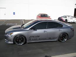 grey nissan maxima stillen 2009 nissan maxima sema project car progress finished
