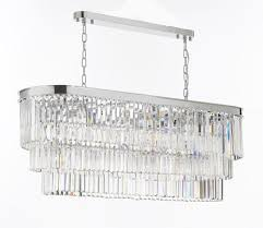 retro chandeliers retro odeon glass fringe chandelier lighting chrome finish g7