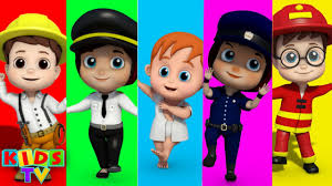 community helpers finger family nursery rhymes songs for children