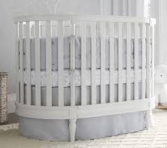 Oval Crib Mattress Belgian Flax Linen Oval Baby Bedding Pottery Barn
