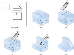orthographic draw orthographic drawing pinterest