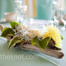 driftwood centerpieces candle and driftwood centerpieces