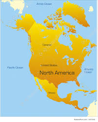 Map Of America Continent by Illustration Of Map Of North America